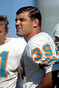 Miami Dolphins, Larry Csonka(39). Sideline portrait of Hall of Fame fullback Larry Csonka early in his career. (