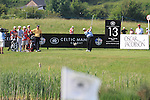 Colin Montgomerie teeing off the 13th on day two of the Celtic Manor wales Open 2010.Picture Fran Caffrey/Newsfile.ie