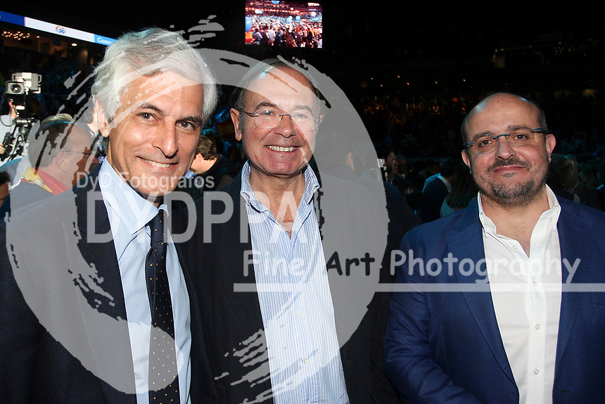 The closing of the campaign of the PP (Partido Popular) party, on Sunday the 28th are the general elections, at WiZink Center in Madrid on April 26, 2019.<br /> Adolfo Suarez Illana and Pio Garcia Escudero