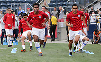 Chester, PA - Monday May 28, 2018: Erik Palmer-Brown, Rubio Rubin during an international friendly match between the men's national teams of the United States (USA) and Bolivia (BOL) at Talen Energy Stadium.
