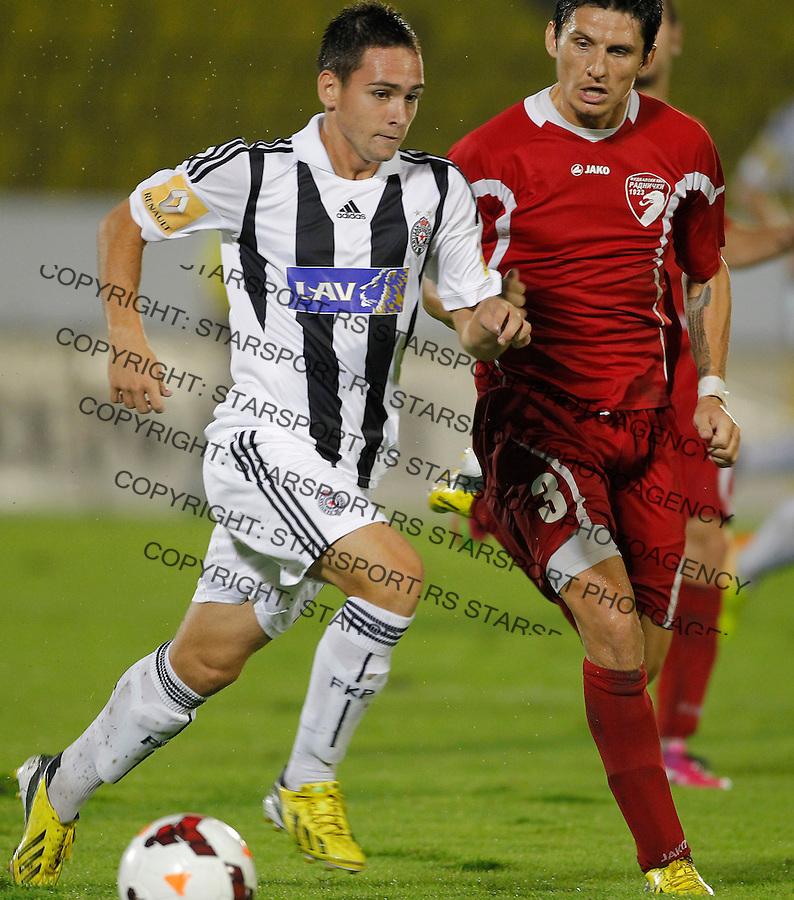 Fudbal Super liga season 2013-2014<br /> Partizan v Radnicki Kragujevac<br /> Andrija Zivkovic and Darko Fejsa<br /> Beograd, 25.08.2013.<br /> foto: Srdjan Stevanovic/Starsportphoto &copy;