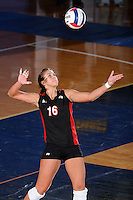 22 November 2008:  Western Kentucky University outside hitter Abbie Siljendahl (16) serves during the WKU 3-0 victory over New Orleans in the championship game of the Sun Belt Conference tournament at U.S. Century Bank Arena in Miami, Florida.