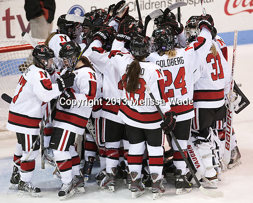 - The Northeastern University Huskies defeated the Boston University Terriers 4-1 in the opening round of the 2013 Beanpot on Tuesday, February 5, 2013, at Matthews Arena in Boston, Massachusetts.
