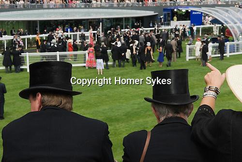 The new parade ring and grandstand. Horse racing at Royal Ascot, Berkshire, England. 2006.