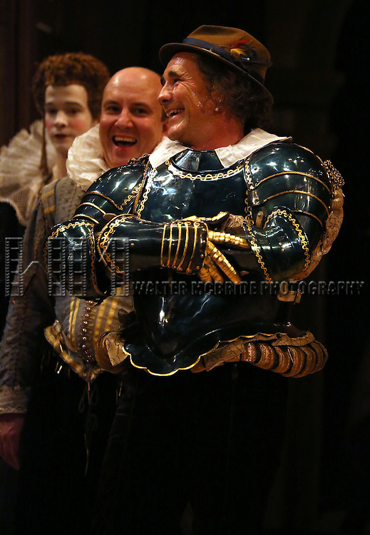 Joseph Timms, Paul Chahidi and Mark Rylance during at the Broadway Opening Night Performance Curtain Call for 'Richard III' at the Belasco Theatre on November 10, 2013 in New York City.