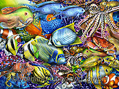 Lori, REALISTIC ANIMALS, REALISTISCHE TIERE, ANIMALES REALISTICOS, paintings+++++Savvy Swimmers_2_brighter_27X20_2017_72,USLS40,#A#, EVERYDAY ,puzzles