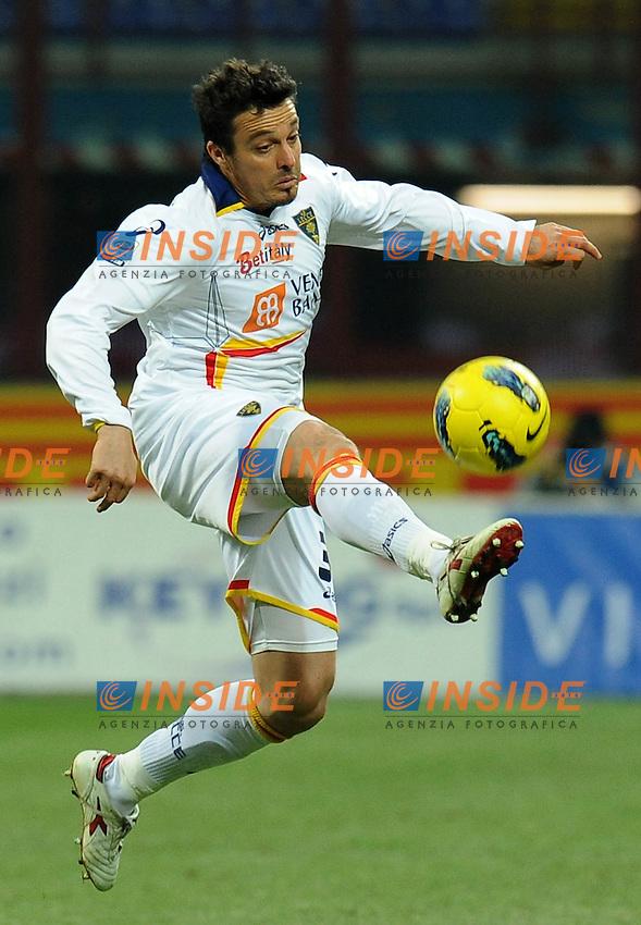 """Massimo ODDO (Lecce).Milano 21/12/2011 Stadio """"Giuseppe Meazza"""".Serie A 2011/2012.Football Calcio Inter Vs Lecce.Foto Insidefoto Alessandro Sabattini."""