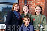 Belinda, Niamh, Aoife Gascoigne and Mark Griffin attending the Gaeil Scoil Mhic Easmainn Food fair in the school on Sunday.