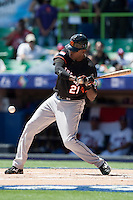 7 March 2009: #21 Eugene Kingsale of the Netherlands is seen at bat during the 2009 World Baseball Classic Pool D match at Hiram Bithorn Stadium in San Juan, Puerto Rico. Netherlands pulled off a huge upset in their World Baseball Classic opener with a 3-2 victory over Dominican Republic.