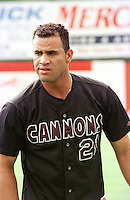 Photo of Albert Pujols as a Class A minor leaguer with the Potomac Cannons in August 2000, taken at Pfitzner Stadium, Woodbridge, Virginia. (Tom Priddy/Four Seam Images)