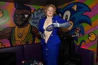 Margaret Thatcher impersonator Honey Wilde strips at Maggies Nightclub in Chelsea