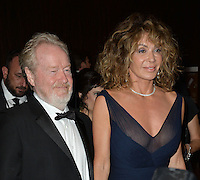 BEVERLY HILLS, CA. October 14, 2016: Ridley Scott &amp; Giannina Facio at the 30th Annual American Cinematheque Award gala honoring Ridley Scott &amp; Sue Kroll at The Beverly Hilton Hotel, Beverly Hills.<br /> Picture: Paul Smith/Featureflash/SilverHub 0208 004 5359/ 07711 972644 Editors@silverhubmedia.com