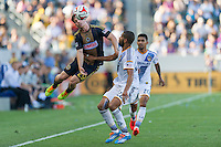 CARSON, CA - May 25, 2014: Philadelphia Union forward Antoine Hoppenot (29) during the LA Galaxy vs Philadelphia Union match at the StubHub Center in Carson, California. Final score, LA Galaxy 4, Philadelphia Union  1.