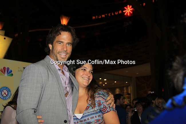 Days Of Our Lives National Tour - Shawn Christian and fan on September 23, 2012 at The Shops at Mohegan Sun, Uncasville, Connecticut. (Photo by Sue Coflin/Max Photos)