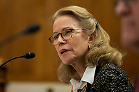 Kathleen Hartnett White during her confirmation hearing to be a Member of the Council on Environmental Quality before the United States Senate Committee on the Environment and Public Works on Capitol Hill in Washington, D.C. on November 8th, 2017. <br /> Credit: Alex Edelman / CNP /MediaPunch