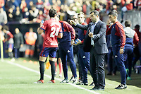 Diego Mart&iacute;nez (Coach; CA Osasuna) during the Spanish <br /> la League soccer match between CA Osasuna and Lorca FC at Sadar stadium, in Pamplona, Spain, on Saturday, <br /> May 27, 2018.