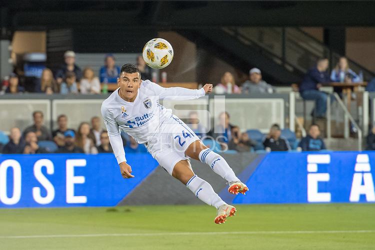 San Jose, CA - Monday January 04, 2016: Nick Lima during a Major League Soccer (MLS) match between the San Jose Earthquakes and Atlanta United FC at Avaya Stadium.