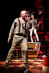 REASONS TO BE CHEERFUL by Sirett;<br /> Gerard McDermott as Bill/Bobby;<br /> Joey Hickman as Cousin Joey - keyboards;<br /> Directed by Sealey;<br /> Associate director: Beeton;<br /> Writer: Sirett;<br /> Designer: Ashcroft;<br /> Assistant designer: Charlesworth;<br /> Lighting designer: Scott;<br /> Sound designer: Gibson;<br /> Musical director: Hickman;<br /> Choreographer: Smith;<br /> Video designer: Haig;<br /> Projection design: Mclean; <br /> Music supervisor and Arrangements: Hyman;<br /> Voice coach: Holt; Casting: Hughes CDG<br /> BSL consultant: Jackson<br /> Audio description consultant: Oshodi<br /> Graeae Theatre Company;<br /> at The Belgrade Theatre, Coventry, UK;<br /> 8 September 2017;<br /> Credit: Patrick Baldwin;