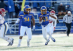 BROOKINGS, SD - NOVEMBER 17: Cade Johnson #15 from South Dakota State University returns a kickoff against the University of South Dakota during their game Saturday afternoon at Dana J. Dykhouse Stadium in Brookings, SD. (Photo by Dave Eggen/Inertia)