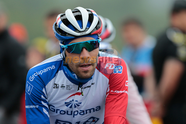 Thibaut Pinot (FRA) Groupama-FDJ gains time as he crosses the finish on Prat d'Albis at the end of Stage 15 of the 2019 Tour de France running 185km from Limoux to Foix Prat d'Albis, France. 20th July 2019.<br /> Picture: Colin Flockton | Cyclefile<br /> All photos usage must carry mandatory copyright credit (© Cyclefile | Colin Flockton)