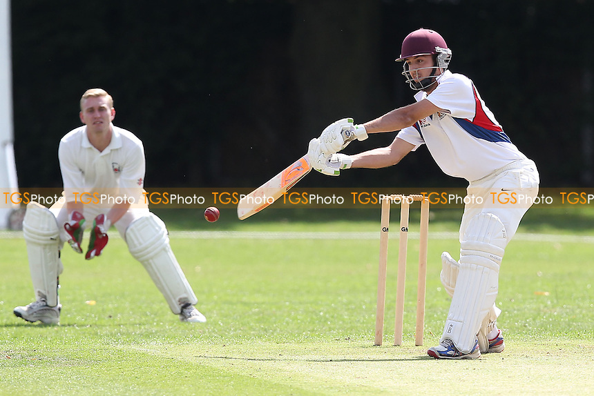Hornchurch Athletic CC (batting) vs Havering-atte-Bower CC - Mid-Essex Cricket League at Hylands Park - 16/08/14 - MANDATORY CREDIT: Gavin Ellis/TGSPHOTO - Self billing applies where appropriate - contact@tgsphoto.co.uk - NO UNPAID USE