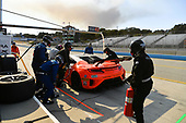 Pirelli World Challenge<br /> Intercontinental GT Challenge California 8 Hours<br /> Mazda Raceway Laguna Seca<br /> Sunday 15 October 2017<br /> Ryan Eversley, Tom Dyer, Dane Cameron, Acura NSX GT3, GT3 Overall pit stop.<br /> World Copyright: Richard Dole<br /> LAT Images<br /> ref: Digital Image RD_PWCLS17_357