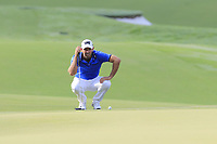 Charl Schwartzel (RSA) on the 14th green during Thursday's Round 1 of the 2017 PGA Championship held at Quail Hollow Golf Club, Charlotte, North Carolina, USA. 10th August 2017.<br /> Picture: Eoin Clarke | Golffile<br /> <br /> <br /> All photos usage must carry mandatory copyright credit (&copy; Golffile | Eoin Clarke)