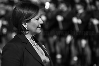 """Elisabetta Trenta (Minister of Defence). <br /> <br /> Rome, 02/06/2019. Today, Italy celebrated the annual """"Festa Della Repubblica"""" (Republic Day, 1.). The 73rd Anniversary of the Italian Republic (*) was marked with the """"Raising the Flag Ceremony"""" and the tribute to the Sacello del Milite Ignoto (Unknown Soldier) at the Altare della Patria """"Vittoriano"""" (2.) by the President of the Italian Republic Sergio Mattarella, followed by the traditional army, veterans and civilians parade along Via Dei Fori Imperiali. This year, the President of the Republic was accompanied by the Defence Minister Elisabetta Trenta, the Italian Prime Minister Giuseppe Conte, the Presidents of the two Chambers of the Parliament, Roberto Fico and Maria Elisabetta Alberti Casellati, several members of the Italian Government, political leaders, senior officers of the Armed Forces and representatives of the Civilian Organizations. At the end of the events the Frecce Tricolori, the Italian Aerobatic Team, coloured the sky over Rome with the Tricolore (Tricolour: Green, White, Red) of the Italian Flag. The theme for this year's event was inclusiveness. <br /> <br /> Footnotes and Links:<br /> (*) The Referendum was held on 2 June 1946 and it marked the decision made by the Italian people to adopt the Republic as the new institutional form for the Country. <br /> 1. http://bit.do/eT8By (ITA) & http://bit.do/eT8Bv (ENG) at https://www.difesa.it/<br /> 2. http://bit.do/eT8BG (Wikipedia)"""
