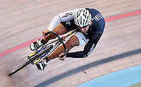 CALI – COLOMBIA – 15-02-2017: Ciclista, durante entreno en el Velodromo Alcides Nieto Patiño, sede de la Copa Mundo UCI de Pista de Cali 2017. / Cyclist, during a training sesión at the Alcides Nieto Patiño Velodrome, home of the Cali Track World Cup 2017 UCI. Photo: VizzorImage / Luis Ramirez / Staff.