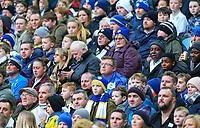 Leeds United fans watch on during the first half<br /> <br /> Photographer Alex Dodd/CameraSport<br /> <br /> The EFL Sky Bet Championship - Leeds United v Blackburn Rovers - Wednesday 26th December 2018 - Elland Road - Leeds<br /> <br /> World Copyright &copy; 2018 CameraSport. All rights reserved. 43 Linden Ave. Countesthorpe. Leicester. England. LE8 5PG - Tel: +44 (0) 116 277 4147 - admin@camerasport.com - www.camerasport.com