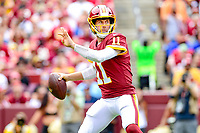 Landover, MD - September 16, 2018: Washington Redskins quarterback Alex Smith (11) looks to pass the ball during game between the Indianapolis Colts and the Washington Redskins at FedEx Field in Landover, MD. The Colts defeated the Redskins 21-9.(Photo by Phillip Peters/Media Images International)