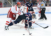 Charlie McAvoy (BU - 7), Patrick Kirtland (UConn - 24) - The Boston University Terriers defeated the visiting University of Connecticut Huskies 4-2 (EN) on Saturday, October 24, 2015, at Agganis Arena in Boston, Massachusetts.