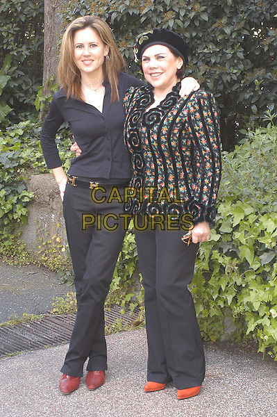 "ISABEL PISANO & LUNA.Photocall of a Luna film ""yo puta""..Rome,  Italy                              .10th April 2004.half length half-length.www.capitalpictures.com.sales@capitalpictures.com.©Capital Pictures"