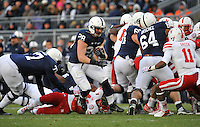 23 November 2013:  Penn State RB Zach Zwinak (28). The Nebraska Cornhuskers defeated the Penn State Nittany Lions 23-20 in overtime at Beaver Stadium in State College, PA.