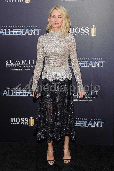 "14 March 2016 - New York, New York- Naomi Watts. ""The Divergent: Allegiant"" New York Premiere. Photo Credit: Mario Santoro/AdMedia"