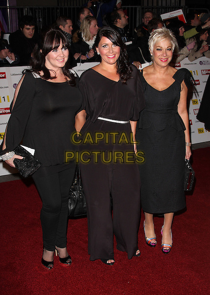 COLEEN NOLAN, ZOE TYLER & DENISE WELCH .Attending the Pride of Britain Awards 2010, Grosvenor House, Park Lane, London, England, UK, .November 8th 2010..arrivals full length Loose Women black dress catsuit pantsuit .CAP/ROS.©Steve Ross/Capital Pictures.