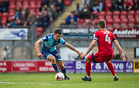 Luke O'Nien of Wycombe Wanderers takes on Liam Kelly of Leyton Orient during the Sky Bet League 2 match between Leyton Orient and Wycombe Wanderers at the Matchroom Stadium, London, England on 1 April 2017. Photo by Andy Rowland.