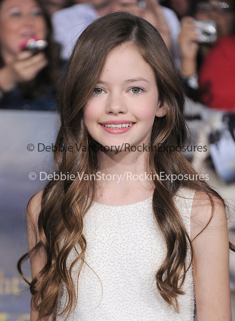 Mackenzie Foy attends The world premiere of Summit Entertainment's THE TWILIGHT SAGA: BREAKING DAWN -PART 2 held at  Nokia Theater at L.A. Live in Los Angeles, California on November 12,2012                                                                               © 2012 DVS / Hollywood Press Agency