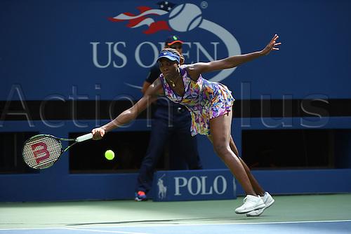 04.09.2016. Flushing Meadows, New York, USA. US Open 2016 Grand Slam tennis tournament.  Venus Williams (USA) loses to Pliskova (10) in 3 sets