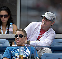 September 2, 2012: Actors Kevin Spacey (top) and Tony Danza (bottom) attend Day 7 of the 2012 U.S. Open Tennis Championships at the USTA Billie Jean King National Tennis Center in Flushing, Queens, New York, USA. Credit: mpi105/MediaPunch Inc. /NortePhoto.com<br />