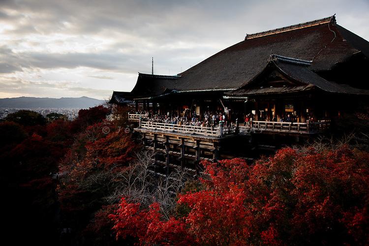 Kyoto, November 24 2011 - At Kiyomizu-dera in Kyoto.
