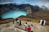 INDONESIA, Flores, the highest viewpoint in Kilimutu National Park, with views of Tiwu Ata Polo and Tiwu Nuwa Muri Koo Fai volcanic lakes