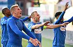 Buffel Thomas midfielder of Krc Genk celebrates the win