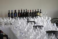 Wine tasting. Wine glasses. Alpha Estate Winery, Amyndeon, Macedonia, Greece