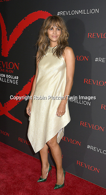 actress Halle Berry attends Revlon's 2nd Annual Love is on Million Dollar Challenge Finale Party at The Glasshouses in New York, New York, USA on December 1, 2016. <br /> <br /> photo by Robin Platzer/Twin Images<br />  <br /> phone number 212-935-0770