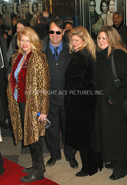 "Dan Aykroyd and family arrive at the New York Premiere of ""The Hours."" New York, December 15, 2002. Please byline: Alecsey Boldeskul/NY Photo Press.   ..*PAY-PER-USE*      ....NY Photo Press:  ..phone (646) 267-6913;   ..e-mail: info@nyphotopress.com"