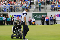 Stuart Manley (WAL) at the 18th green during Sunday's Final Round of the Northern Ireland Open 2018 presented by Modest Golf held at Galgorm Castle Golf Club, Ballymena, Northern Ireland. 19th August 2018.<br /> Picture: Eoin Clarke | Golffile<br /> <br /> <br /> All photos usage must carry mandatory copyright credit (&copy; Golffile | Eoin Clarke)