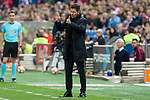 Diego Pablo Cholo Simeone coach of Atletico de Madrid during the match of La Liga between Atletico de Madrid and Villarreal at Vicente Calderon  Stadium  in Madrid, Spain. April 25, 2017. (ALTERPHOTOS/Rodrigo Jimenez)