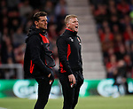 Jason Tindall assistant coach and Eddie Howe manager of Bournemouth during the premier league match at the Vitality Stadium, Bournemouth. Picture date 18th April 2018. Picture credit should read: David Klein/Sportimage
