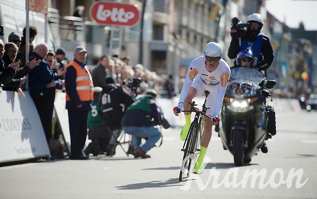 Alexander Kristoff (NOR/Katusha) finishing his TT<br /> <br /> 3 Days of De Panne 2015<br /> stage 3b: De Panne-De Panne TT
